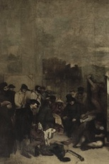 Artists' studio detail Courbet